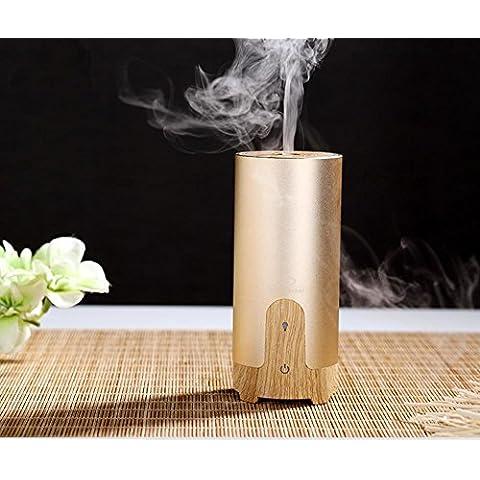 50ml Cool Mist umidificatore Aroma ad ultrasuoni olio essenziale diffusore per Office Home camera da letto soggiorno studio Yoga Spa - grano di legno , gold , american rules