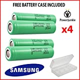 PowerJunkie 4 x Original Samsung 25R INR 18650 High-Drain 3,7 V 2500 mAh 20 35 A * * Gratis Fall * *