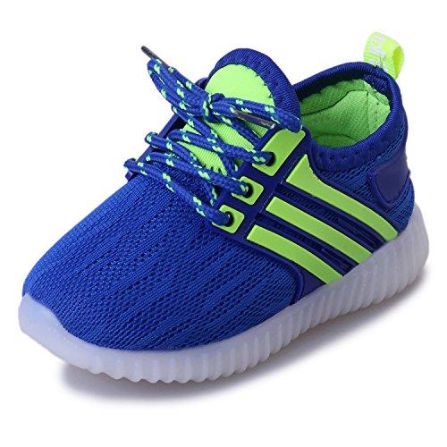 Calzature per Bambini Scarpe LED Bambini Bambina Unisex Basso scarpe leggere con luci lampeggianti multicolor 0391 blu EU 25
