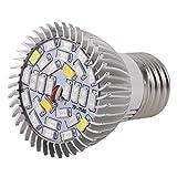 LouiseEvel215 La pianta del LED coltiva la Luce Piena Spettro 8 / 28W E27 pianta Crescente Lampada idroponica per la Serra Interna Fiore Crescere Box
