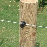 Rutland 12-117R Bobine de fil de clôture électrique - Blanc