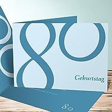 Einladung 80er Party Geburtstag, Meine Achtzig 45 Karten, Horizontale  Klappkarte 148x105 Inkl. Weiße