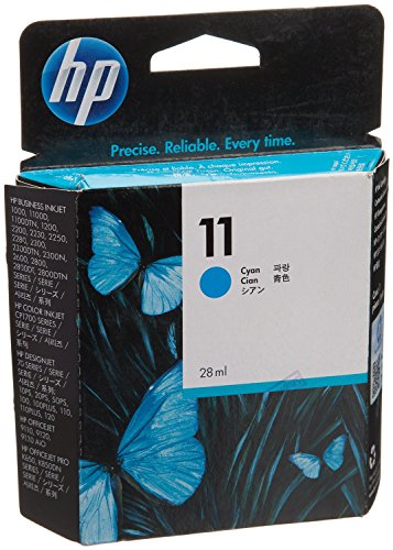 HP 11 Blau Original Druckerpatrone für HP Officejet Pro, HP Business Inkjet, HP Designjet