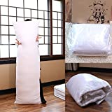 """EXCLUSIVE, BRANDED & FIRST TIME ON AMAZON!.. 6 Ft Long Body Rectangular Pillow Insert/ Fillers (20""""x 72"""" Inches I.e 50x180 Cms) (VACUUM PACKED)--Made Of Premium Quality Reliance Fiber, Highly Resilient, Durable And Long Lasting-By KINGLY"""