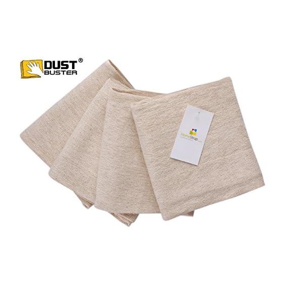 HomeStrap Dust Buster 4 Piece 380 GSM Cotton Floor Towel Set Off White