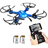 Quadrocopter Potensic Drohne Wifi 2.4GHz 6-Achsen-Gyro 2 MP HD Kamera FPV Monitor Video Live 3D Flip Funktion