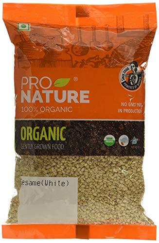 """Pro Nature 100{9d78a0926e5dcde8da683d86b677aa21b53e9d7989c4292b89282e0183c6b956} Bio Sesame (White, Natural) 200 g von \""""Bharat Bazaar\"""""""