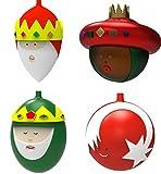 Alessi Albero di Natale palla Set 4pezzi–4palline I tre re magi + Stella
