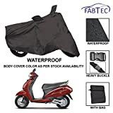 #6: Fabtec Premium Quality Waterproof Double Stiched Scooty Body Cover With Heavy Buckle Lock & Storage Bag For Honda Activa 4G