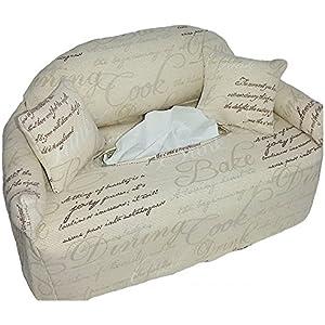 Taschentuchsofa mit Schriftzug - Bezug für Taschentuchschachtel oder Kosmetiktuchbox - Handgefertigt