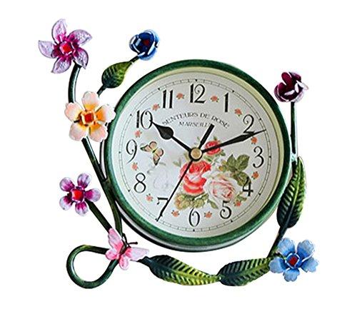 S.W.H Estilo de Europeo Reloj de Mesa Decorativo Silencioso de Hierro Rústico...