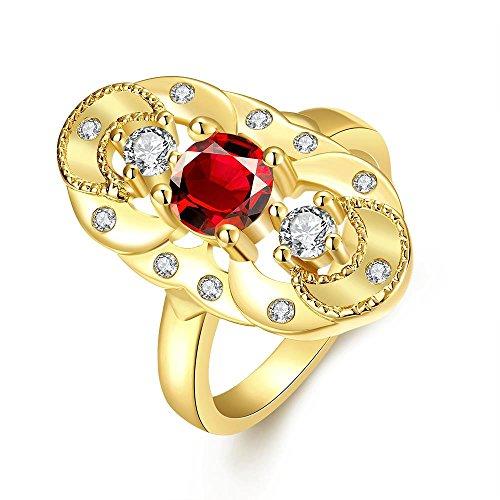 YAYA Alta Qualità Di 5 Anni, In Totale Libertà Antiallergico Moda Gioielli Con Uno Zircone (Diamante Dei Canali Band Ring)