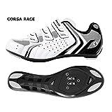 Deko Sports, scarpe bici da strada, modello Race, colore bianco/nero, misure varie (41)