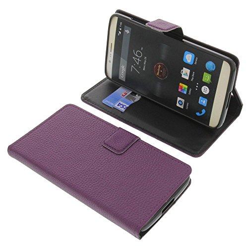 foto-kontor Tasche für Elephone P8000 Book Style lila Schutz Hülle Buch
