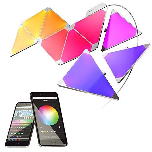 nanoleaf Light Panels (Aurora) Rhythm Starter Kit - 9x Modulare Smarte LED & Sound Modul - Lichtpanels mit App Steuerung [Erweiterbar | 16 Millionen Farben | Alexa kompatibel | Plug and Play | iOS (Apple Home Kit kompatibel) & Android] [Energieklasse A] - 13