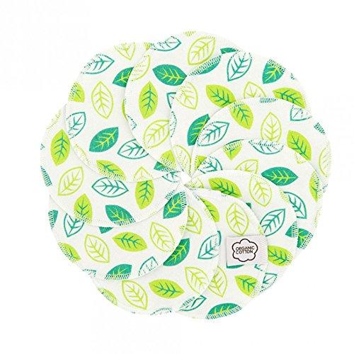 ImseVimse waschbare Abschminkpads 10 Stück Cleansingpads (Green Leaves)