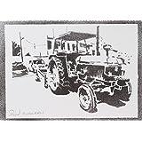 John Deere Traktor Handmade Street Art - Artwork - Poster