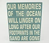 WB3 SHABBY CHIC SIGN - OUR MEMORIES... 24 X 30CM