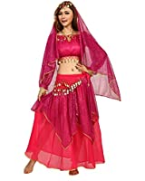 VENI MASEE Belly Dancing Sequins Yarn Dancing Costumes Set, A Four-Piece, Price/Set