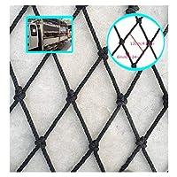 BHH Black Children Protection Net Rail Balcony Stair Safe Net Climbing Woven Rope Cargo Rope Ladder Safety Net Kindergarten Playground Stadium Indoor Outdoor (Size : 3x8m)