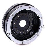 Quenox Objektiv-Adapter mit Blende für Canon-EOS-Objektiv an Fuji-X-Mount-Kamera - z.B. für Fujifilm Finepix X-T20, X-T10, X-T2, X-T1, X-E2S, X-E2, X-E1, X-A10, X-A3, X-A2, X-A1, X-M1, X-Pro2, X-Pro1