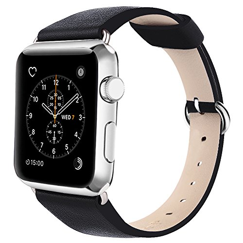 N. Oranie Fiore Fascia Per Apple Watch 38mm/42mm Vera Pelle Cinturino Bracciale con fibbia classico in metallo sostituzione della fascia di polso per Apple Watch Serie 1e Serie 2