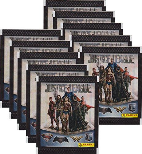 CAGO Panini - Justice League Sammelsticker - Tüten, Display, Album (10 Tüten)
