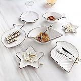 Salatschüsseln Ocean Series Kreative Cartoon Keramik Besteck Niedlich Set Nordischen Stil Dish Dish Platte Teller Fisch Schüssel Multi Style Set Nudelschale (größe : White Suit)