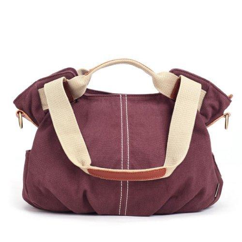 eshow-womens-ladies-casual-striped-canvas-totes-daily-purse-hobo-top-hanle-bag-shoulder-bag-burgundy