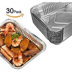 Barbecue usa e getta aluminum foil Pans, Onidoor griglie contenitori, 21,8x 15,7x 5,3cm (pezzi)