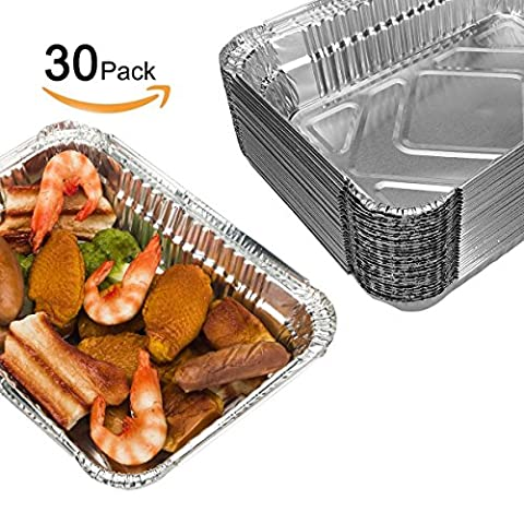 BBQ Foil Pans, Onidoor Disposable Aluminum Grills Containers, 8.6