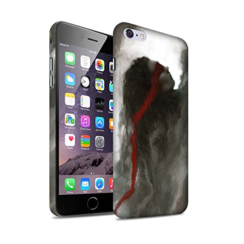 Offiziell Chris Cold Hülle / Matte Snap-On Case für Apple iPhone 6+/Plus 5.5 / Hades/Phantom Muster / Unterwelt Kollektion Rotes Band-Engel