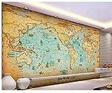 Tapete der Tapetenhauptdekoration 3d antike Segelweltkartendekorationshintergrund 3 d Tapete für Wände Geschenk Tapetenkleber