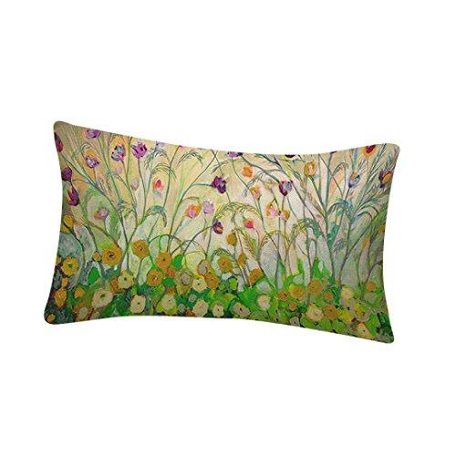 Funda de flores y pájaros,Subfamily® Impresión de aves Sofá cama Decoración del hogar Festival Funda de almohada Fundas de colchón (C)