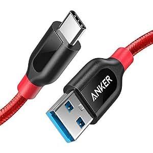 """Anker Cavo USB-C a USB 3.0 A [Fibra interna di KAramide & Doppio Strato Esterno di Nylon] PowerLine+ (90 cm) - GARANZIA A VITA - Cavo Premium Per Nuovo Macbook 12"""", ChromeBook Pixel, Nexus 5X, Nexus 6P, Nokia N1 Tablet, OnePlus 2 e Altri Dispositivi con porta Type C"""