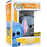 Funko - Figurine Disney Lilo et Stitch - Stitch Assis Flocked Exclu Pop 10cm - 0849803064815
