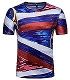 Whatlees Herren Slim Fit FIFA Fussball WM 2018 3D Druck T-Shirt Russland - Ba0043-24 - L