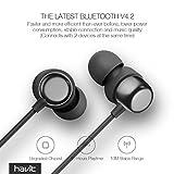 Bluetooth In-Ear Sport Kopfhörer HAVIT V4.2 IPX5 Schweißresistent Stereo magnetischer Sport Ohrhörer mit 10 Stunden Spielzeit & 10 Meter Reichweite, eingebautes Mikrofon für iPhone, Huawei und Samsung (I39 ) - 51tx5MX9yiL - Bluetooth In-Ear Sport Kopfhörer HAVIT V4.2 IPX5 Schweißresistent Stereo magnetischer Sport Ohrhörer mit 10 Stunden Spielzeit & 10 Meter Reichweite, eingebautes Mikrofon für iPhone, Huawei und Samsung (I39 )