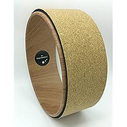 Efecto de madera de MyYogaWheels + corcho Yoga rueda–lomo de mejora el equilibrio y la flexibilidad. Back Bend apoyo para Asana Pose + inversión se estira 2017cuerpo rueda