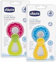 Chicco Fresh Relax Massaggiagengive per Neonati, Anello da Dentizione Rinfrescante per Gengive Sensibili, Mass