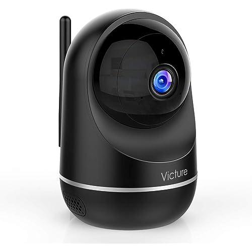 Victure Telecamera Wi-Fi Interno, 1080P Dualband 2.4Ghz & 5Ghz Wi-Fi,Telecamera Sorveglianza WiFi, Baby Monitor con Visione Notturna, Rilevamento del Movimento Attraverso IPC360 Home App