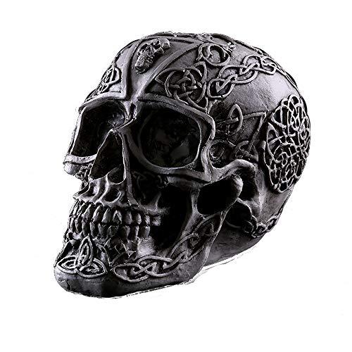 ZHZX Cooler menschlicher Schädel-Dekor, Tod und Reor Grafik-Kunstharz-Skulptur, Fotografie-Stützen, für Haupthalloween-Verzierung (Halloween Bedeutet Den Tod)