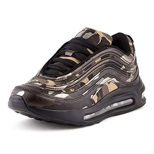 Fusskleidung Herren Damen Sportschuhe Sneaker Dämpfung Turnschuhe Jogging Gym Unisex Camo 1 EU 39