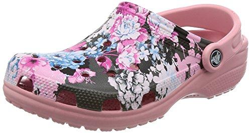crocs Unisex-Erwachsene Classic Graphic Clog Pink (Cashmere Rose)