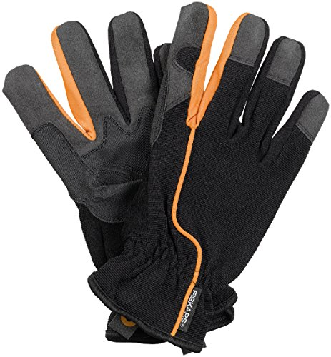 garten handschuhe Fiskars Garten-Arbeitshandschuhe, Größe 10, Schwarz/Orange, 1003477