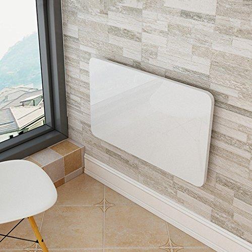 DNSJB Klapptisch-Wall Mounted Laptop Tisch Drop-Leaf Tisch Küche Esstisch für kleine Räume, weiß, herunterklappbar Holz-Panel Home Office Computer Desk (größe : 100x40cm) -