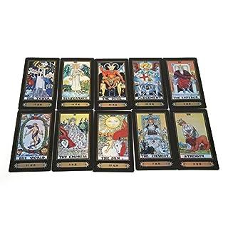 Zerodis Cartes de Tarot- 78 Pièces artes à Jouer pour Le débutant Deck Vintage 78 Cartes Rider Waite Future Jeu de la Vente dans la boîte colorée (Rider Waite)