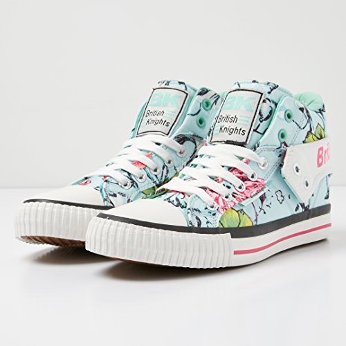British Knights Roco, Sneakers basses femme VERT MENTHE/FLEUR