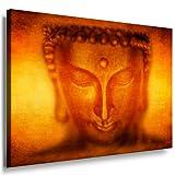 Bild auf leinwand Buddha Bild 100x70cm / Leinwandbild fertig auf Keilrahmen / Leinwandbilder, Wandbilder, Poster, Pop Art Gemälde, Kunst - Deko Bilder