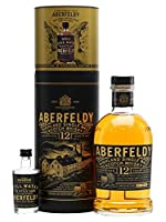 Aberfeldy 12 Single Malt Scotch Whisky with Pitilie Burn Water Gift Pack, 70 cl